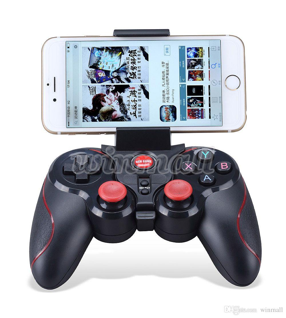 DHL S5 Bluetooth Wireless Game Controller Gamepad Joystick for IOS iPhone iPad Android Smart Phone Smart TV VR Box
