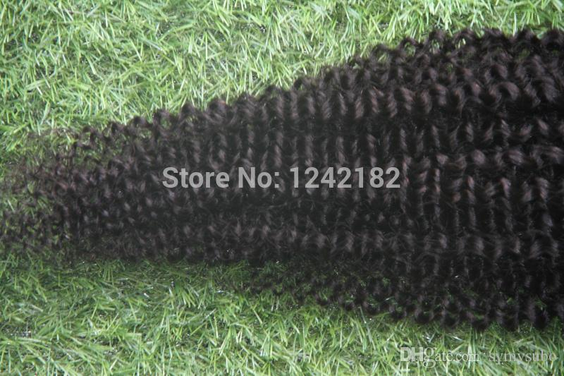 Hot Sale Brazilian Afro Natural Black Hair kinky Curly Virgin Hair Clip Ins African American Clip in Human Hair Extensions