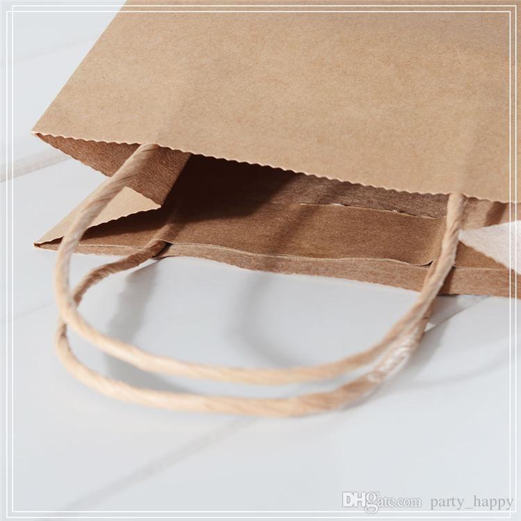 백지 선물 가방 결혼 파티 생일 화이트 크래프트 종이 가방 작은 장식품 기사 선물 가방 선물 상자 핸드백 일반 종이 가방