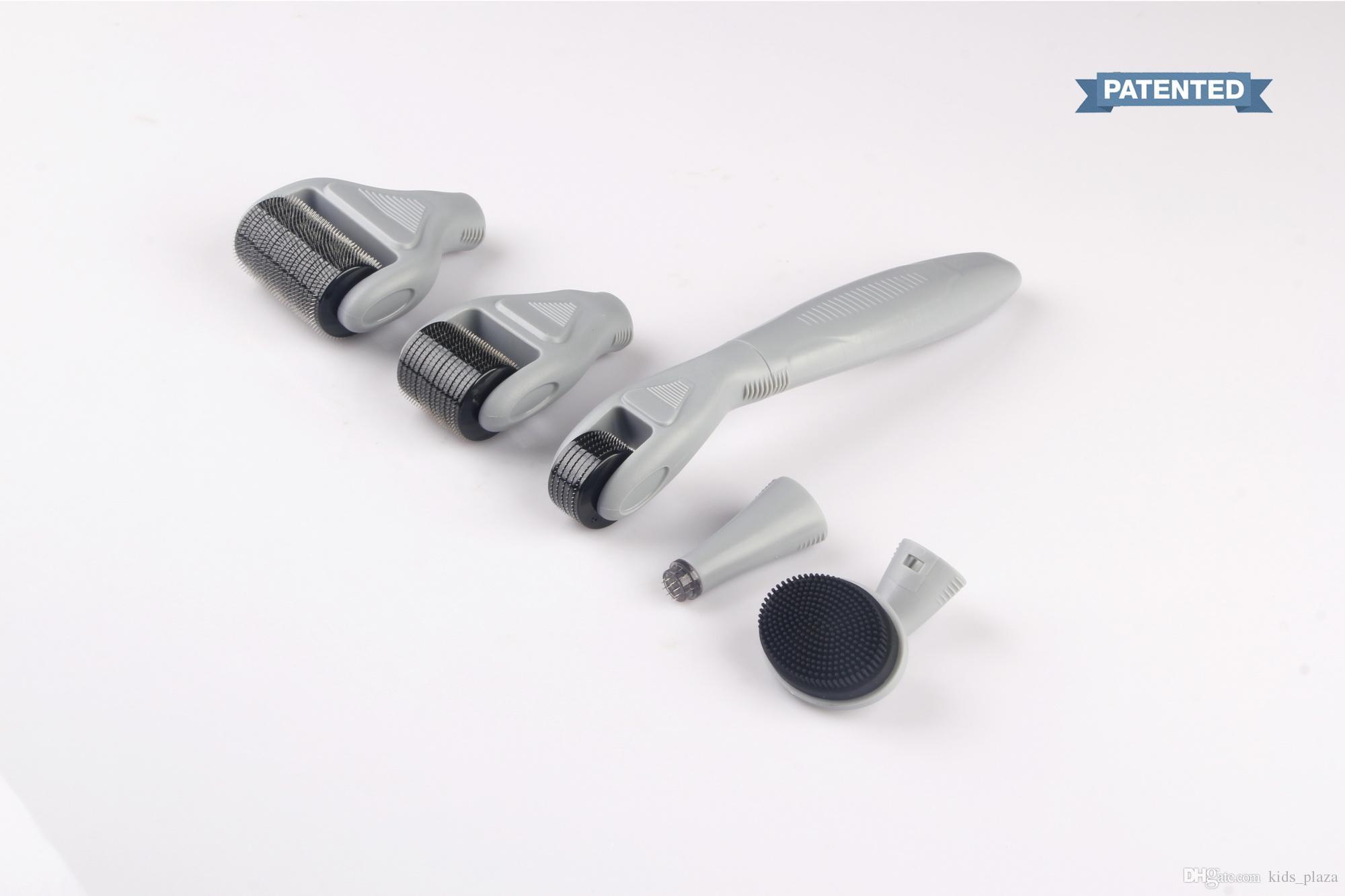 DRS Derma rulo Sistemi 6 Skar Yüz Fırça Mikro İğne Tedavisi Cilt Bakımı Seti ücretsiz kargo dermaroller 1 Titanium