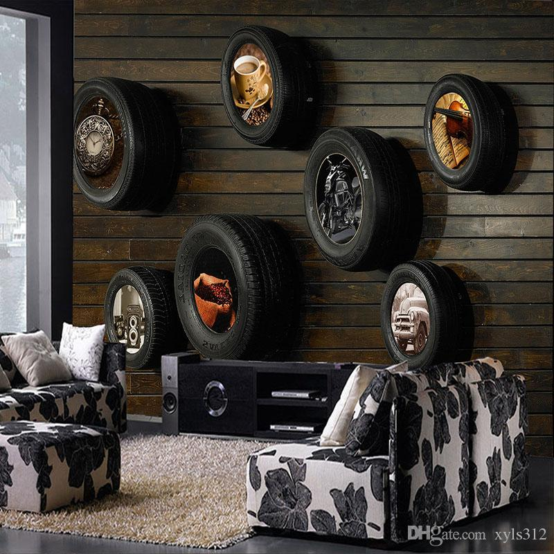 Old Car Images Hd: Wood And Tires, Industrial-style Restaurant Retro