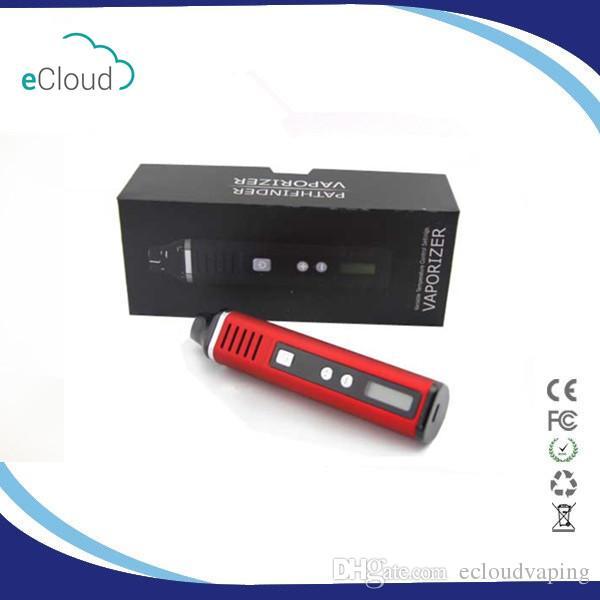 100% echte Portable Pathfinder 2 Trockenkräuter-Zerstäuber Stift Kit Kräuter 200-600F Hebe elektronische Zigarette Kit 2200mah Vape Ecigs Dry Herb Tit