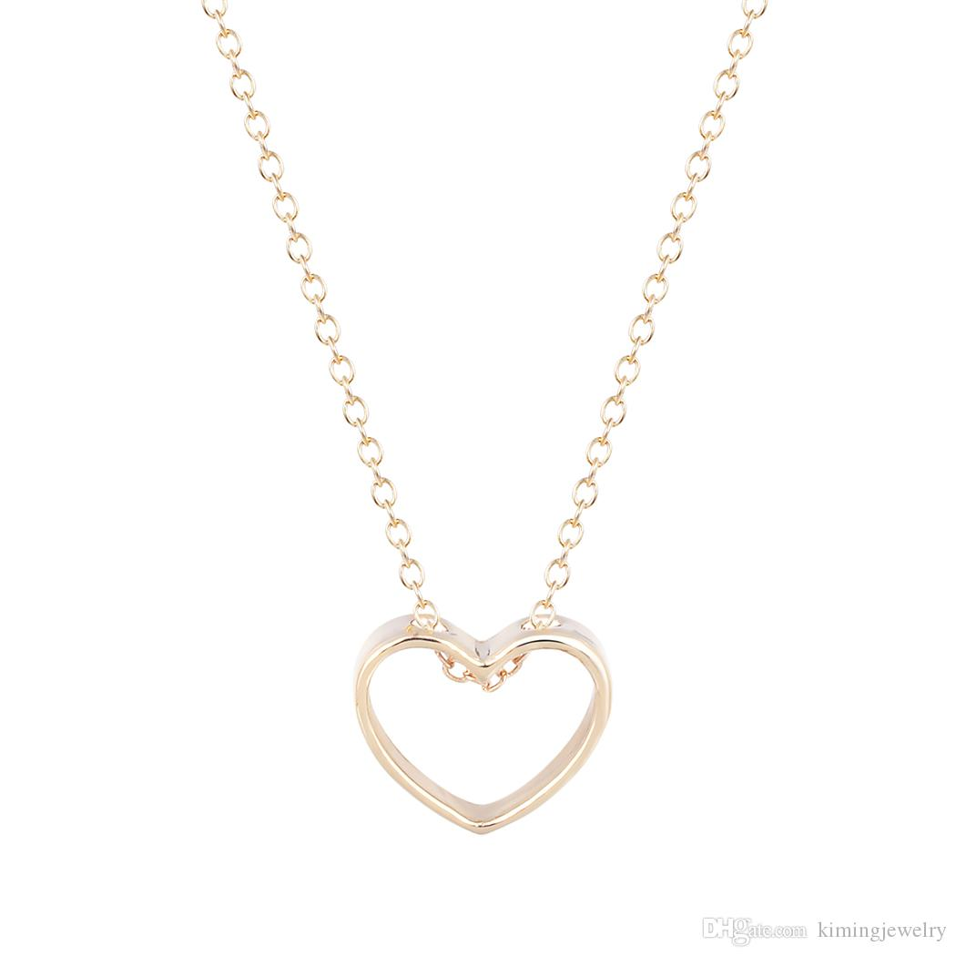 2dee1ac24cb Wholesale Popular Brand Jewelry Women Necklaces Gold Silver Peach Love  Heart Best Friends Pendant Girlfriend Gifts For Girls Gold Chains Diamond  Necklace ...