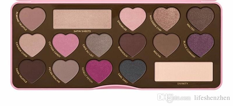 2016 Hot sales Factory Direct chocolate plate bar 3rd generation eyeshadow BON BONS too Palette face 16 eye shadow make up DHL free shipping