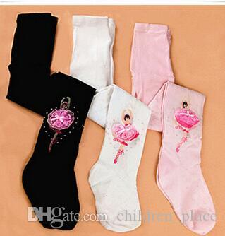Hot Selling Wholesales and Retail Girls Ballet pantyhose Girls fashion dancing embroidered socks for 1-8 yrs