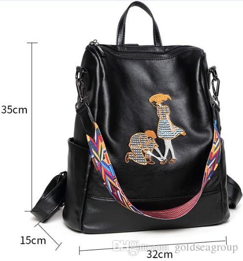 47af6902551d Backpack Shoulder Bags Wholesale Multifunctional Bag Original Designer  Classical Embroidery Handbag Artwork Women Purse AU FR Leather DE Backpack  Purse Dog ...