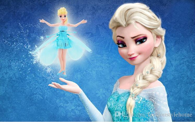 Flying Fairy Frozen Princess Elsa Doll Helicopter Fly Toy