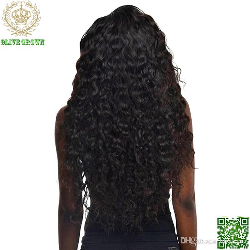 Loose Curly Full Lace Human Hair Wigs Brazilian Lace Front Wig With Baby Hair Kinky Curl Human Hair Glueless Full Lace Wig