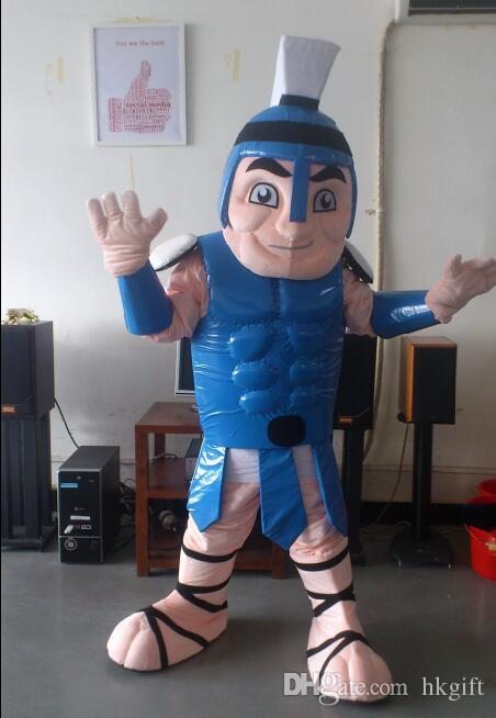 Oisk Professional Blue Titan Spartan Trojan Knight Mascot Costume Outfits Cartoon Character Fancy Dress Mascots Costumes For Adults College Football Mascot ... & Oisk Professional Blue Titan Spartan Trojan Knight Mascot Costume ...