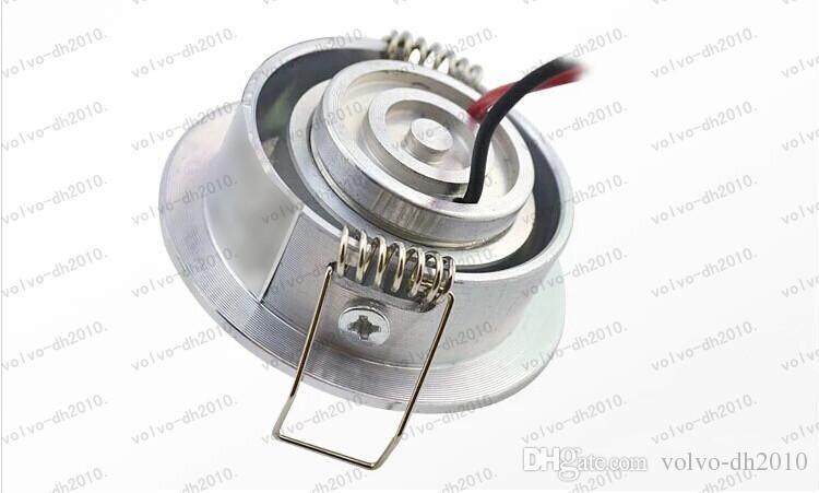 Trasporto libero più nuova alta potenza mini cerchio rotondo da incasso a soffitto LED giù luce della lampada armadietto 3W LED LLFA193 alluminio bianco