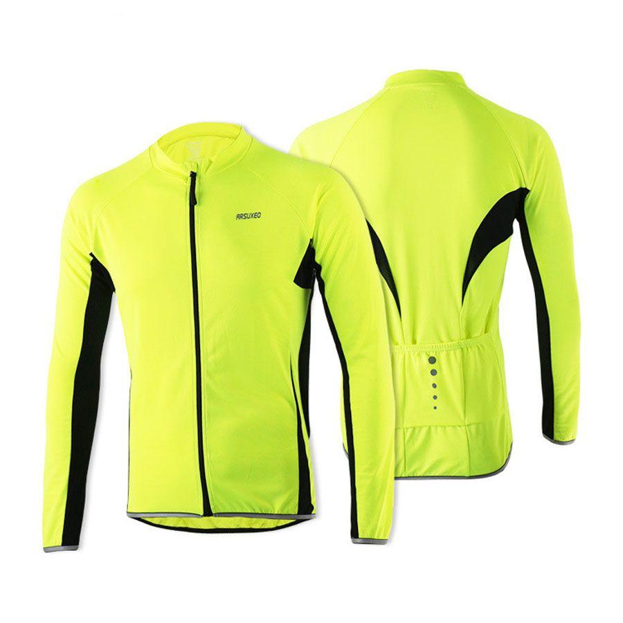 58f09f868 ARSUXEO 2016 Men s Cycling Jerseys Spring Summer Outdoor Sports MTB ...