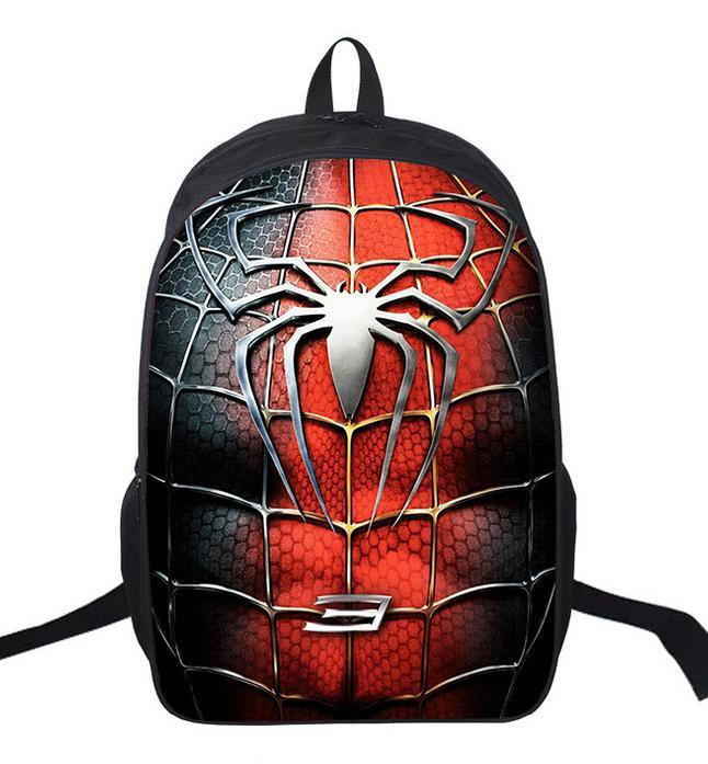 16 Inch Super Hero Spiderman Kids Cartoon Backpacks School Bags Primary Boy  Mochila Children Backpack For Boys Teenagers Cartoon Backpack Children  School ... 10db475970e7e