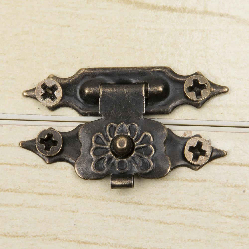 10 Adet Takim Vintage Parcalari Mobilya Mucevherat Ahsap Kutu Dolap Bavul Kilit Kanca Kapak Mandali Bronz Ton