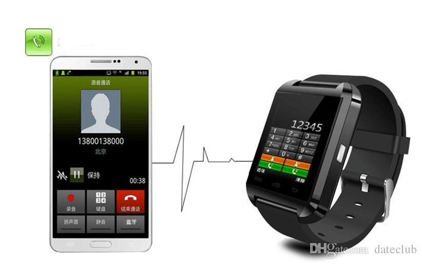 U8 سمارت ووتش بلوتوث الهاتف ماتي smartwatch مثالية لالروبوت لمدة 4 ثانية / 5/5 ثانية ل s4 / s5 / ملاحظة 2 / note4 dhl شحن مجاني