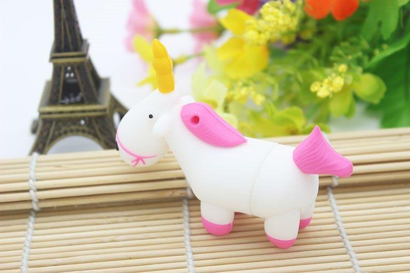 Pendrives Unicorn Cartoon USB Flash Memory Stick Drive Real Capacity 16GB 4GB 2GB 1GB 8GB Horse Pen Drive