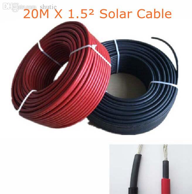 Großhandel Wholesale 20m / Los 1.5mm ^ 2 Pv Kabel 16 Awg Solar ...