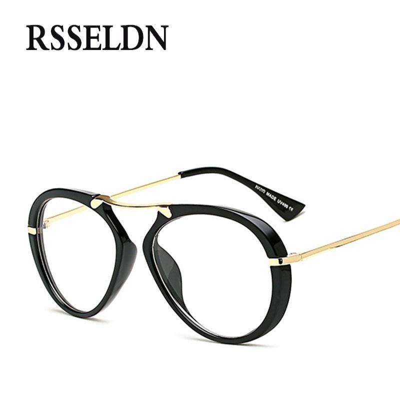 2f0181b0a7e Wholesale- RSSELDN Brand Round Eyeglasses Frames Women Fashion ...