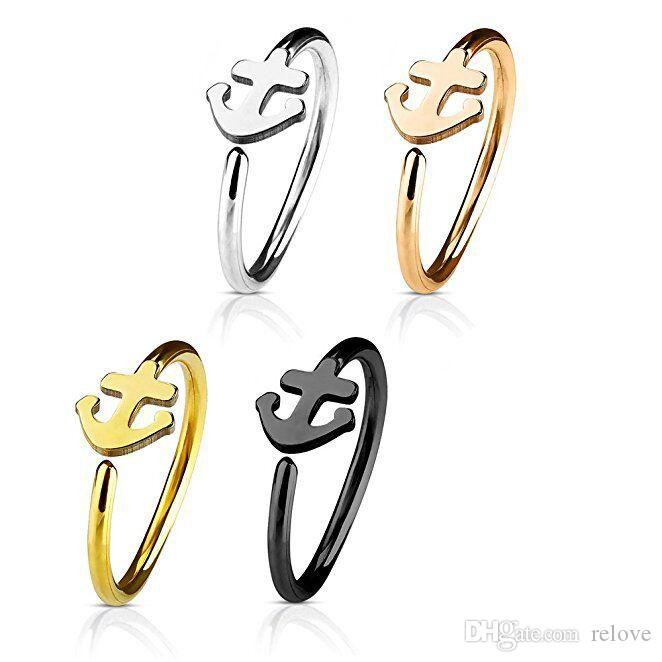 Fashion Stainless Steel Nose Ring Piercing Jewelry Silver Gold Nose Hoop For Women Girls Men Septum Clip Hoop Jewelry Gift