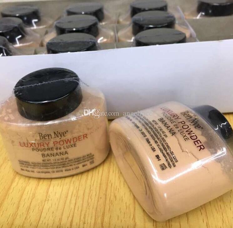 Ben Nye Luxury Powder Banana 1.5oz 42gm Makeup Finishing Loose Power Higlighter Face Contour Brighten Setting Powder Factory price