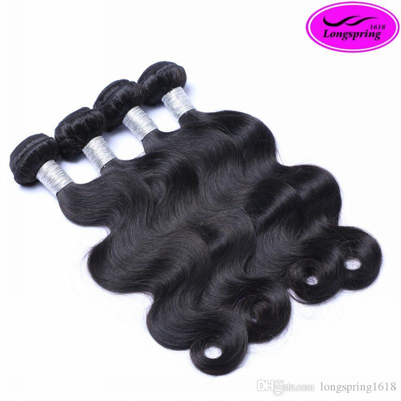 100% Unverarbeitete Brasilianische Haarkörperwelle Reine Menschenhaarverlängerungen 3 stücke viel Menschliches Haar Spinnt 8-28 zoll Doppelschuss Bundles