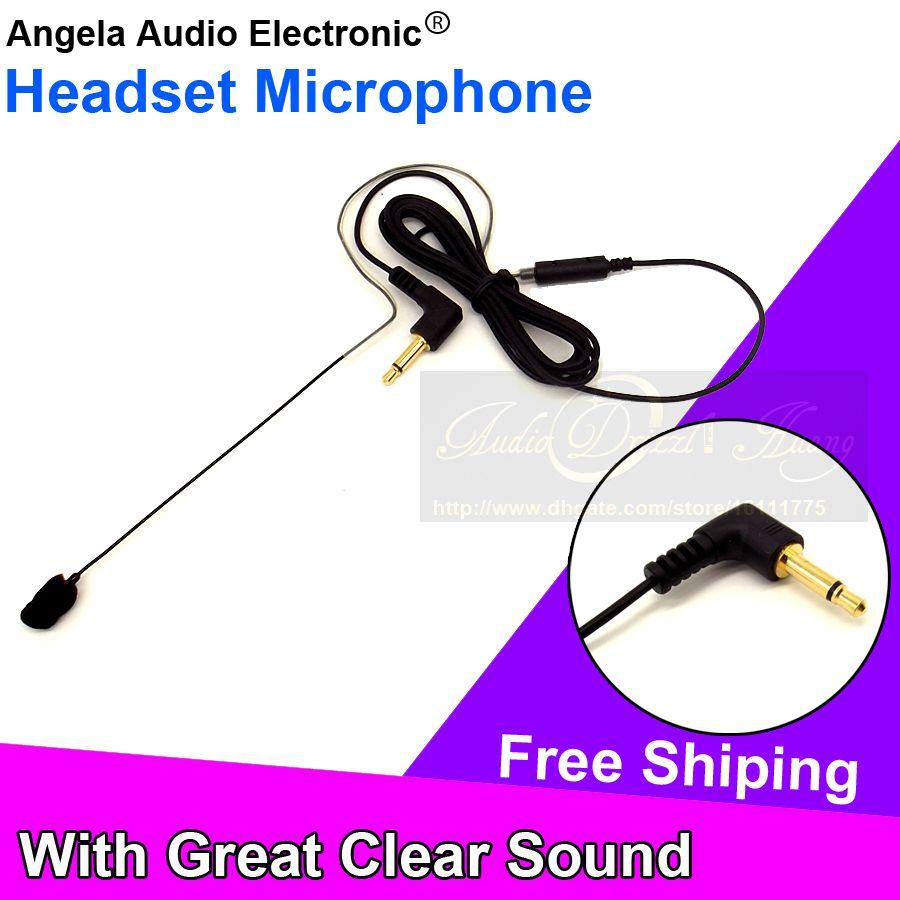 3.5mm Male Plug Connector Single Earhook Headset Microphone Mic For Voice Amplifier FM Wireless BodyPack Transmitter