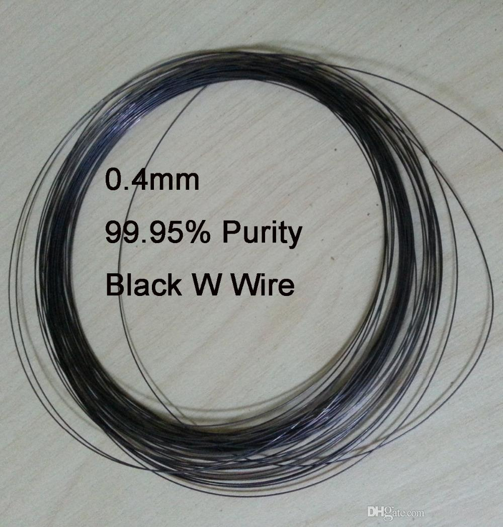 0.4mm 99.95% Purity Industry Experiment DIY Black Tungsten Wire ...