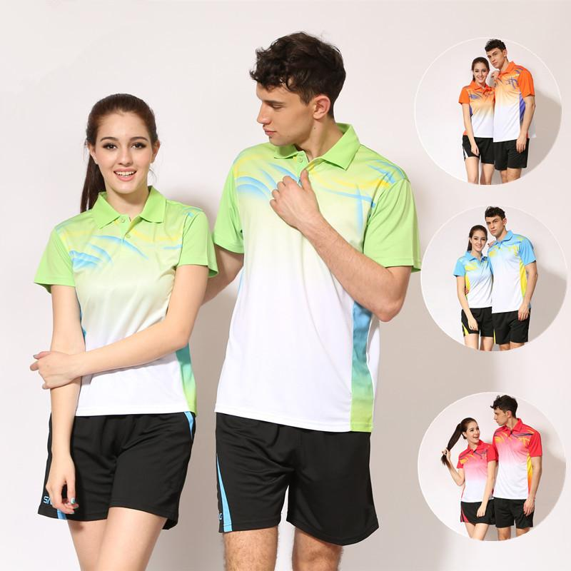 info for 693cc 58e1c Ping Pong Shirt Tennis Jersey For Men Table Tennis Shirt and Shorts set  Sport Quick Dry T-Shirt Badminton Set Shirt Golf Wear