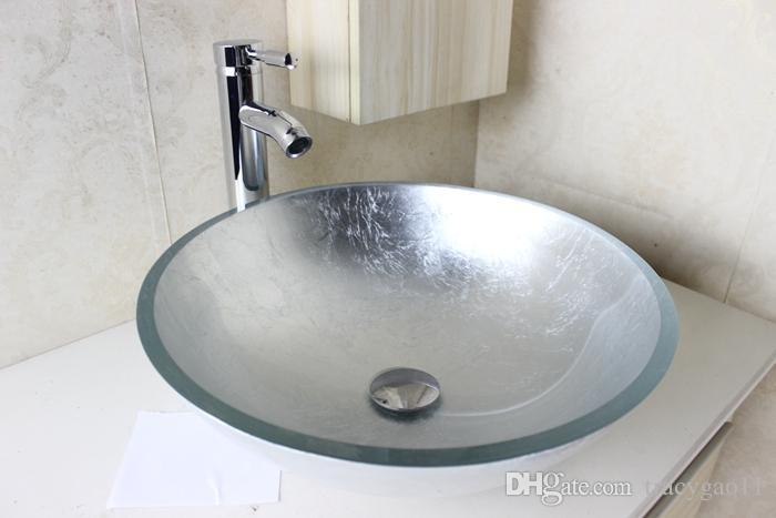 Rubinetto lavabo bagno rubinetto da lavabo con bocca in vetro