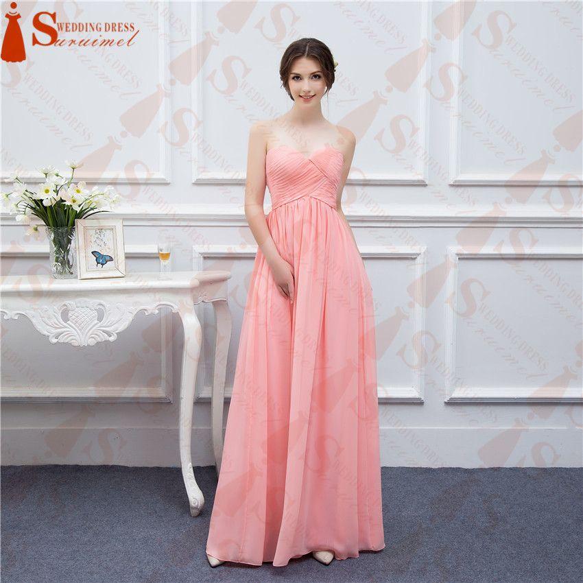 A Line 2018 Chiffon Bridesmaid Dresses Vestidos De Noiva Prom ...