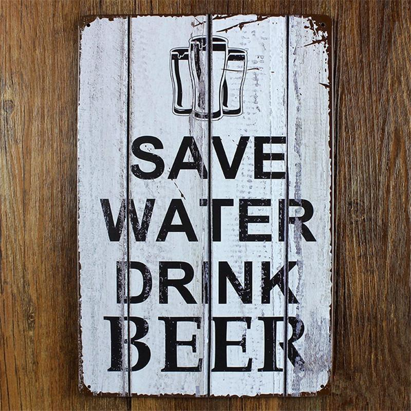 40 Wholesale Save Water Drink Beer Vintage Home Decor 4040 Cm Delectable Wholesale Home Decor Signs