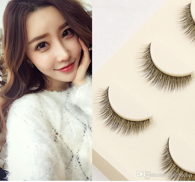 Real Original 3D False Eyelashes multi-layer lash extension 100% handmade TOP Quality false lash natural cross daily 3d fake eyelash lash be