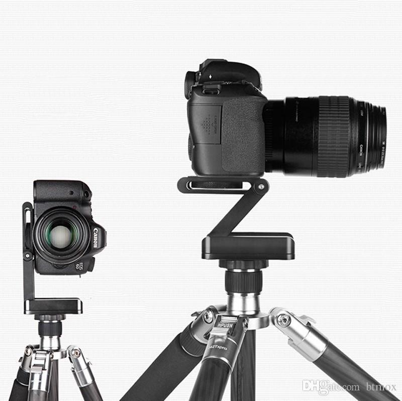 Z type inclinaison des têtes de trépied Flex pliant Z support de support pour Canon Nikon Sony DSLR appareil photo en alliage d'aluminium Top qualité
