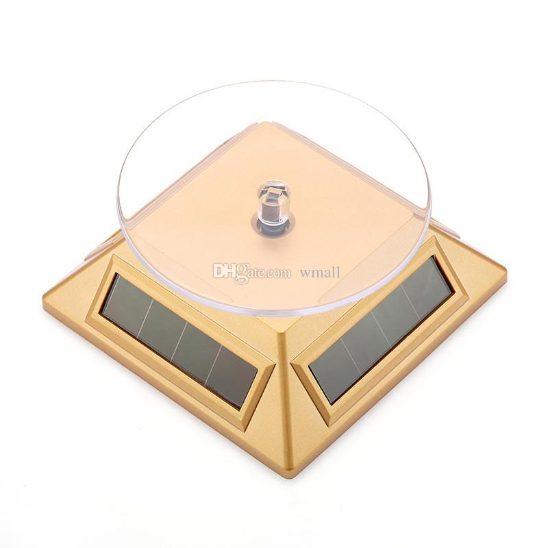 Espositore solare, energia solare, rotazione a 360 gradi, giradischi solare rotante telefoni cellulari mp4 porta gioielli
