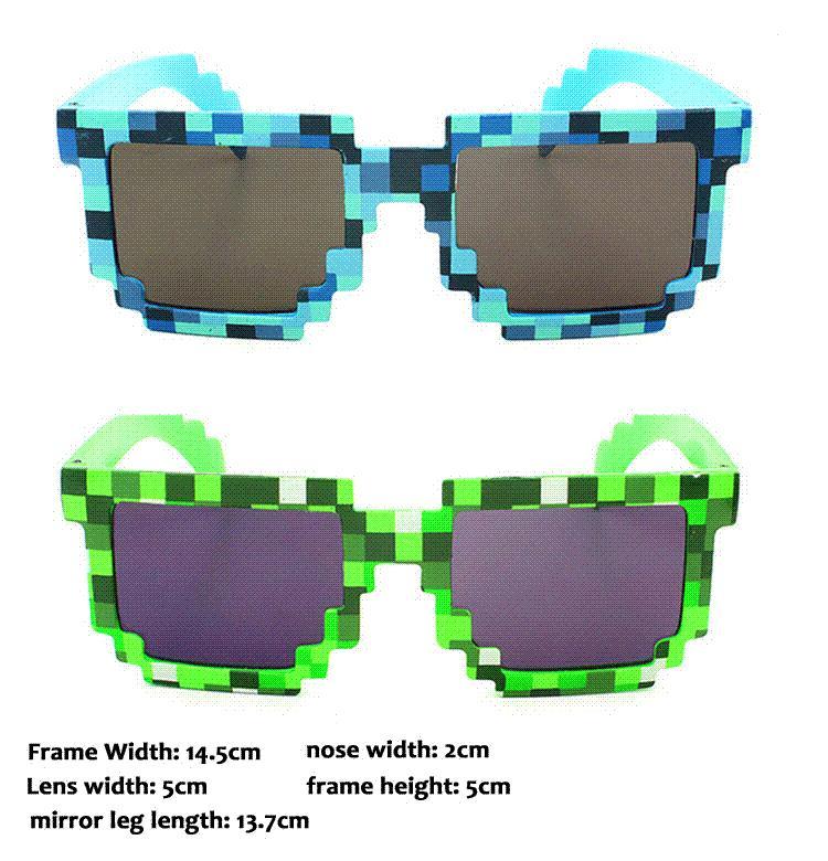 35bdc50c6 Compre Estilo Na Moda Verão Bonito Do Vintage Quadrados Novidade Mosaico  Óculos De Sol Unisex Pixel Óculos De Sol Cores Azul Verde Gs 085 De  Xixiuncle, ...