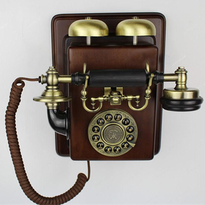 Vintage style phone appareil antique wall mounting set - Telefoni a parete ...