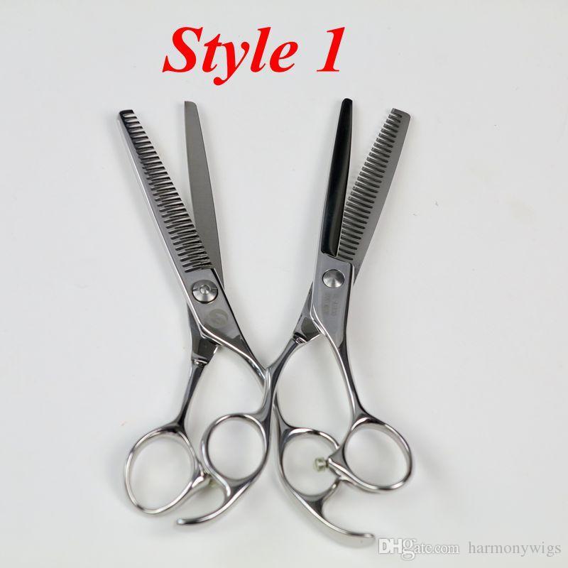 أعلى جودة 5.5 بوصة المقاوم للصدأ مقص الشعر المهنية صالون قطع ترقق مقص تصفيف الشعر أدوات الشعر