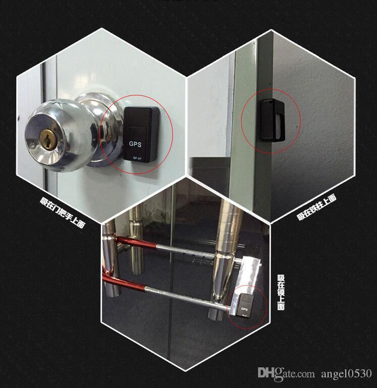 GF07 Mini Rastreador GPS Coche GSM GPRS Localizador GPS Plataforma Seguimiento de SMS Alarma Monitor de Sonido Grabación de voz con Imán Interior