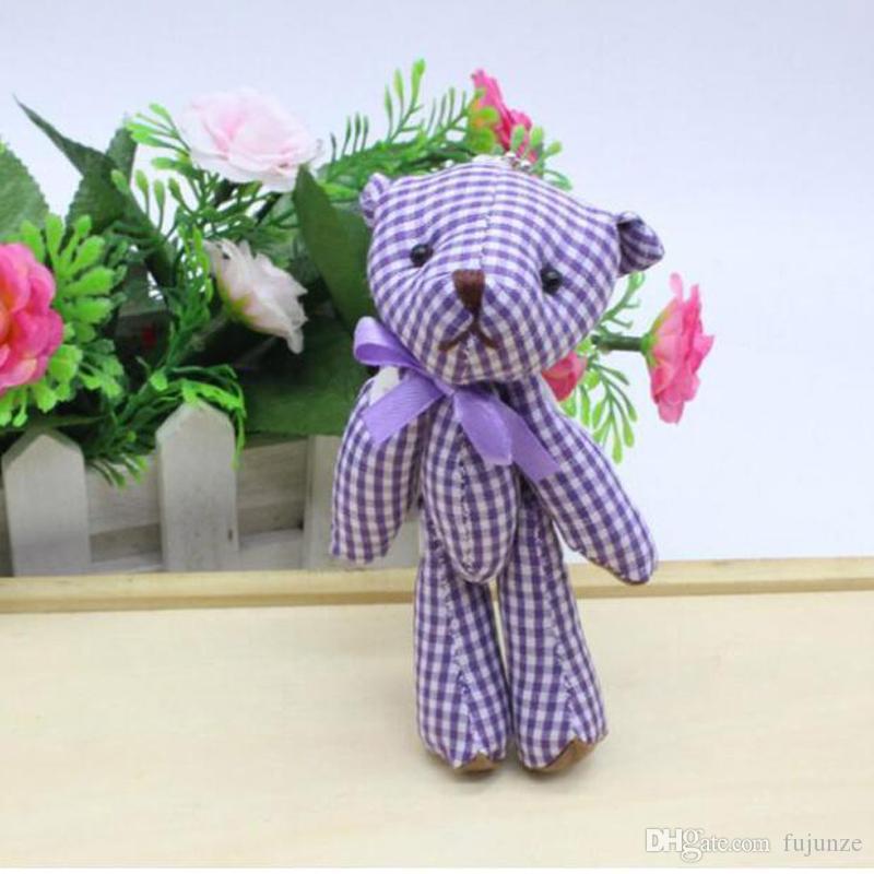 Kawaii Kleine Gemeinsame Teddybären Gefüllte Plüsch 11 CM Spielzeug Teddybär Mini Bär Ted Bears Plüschtiere Hochzeitsgeschenke 6 Teile / los 045