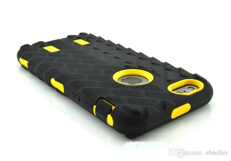 Tire Robot Hybrid Heavy Duty Rugged Shockproof Hard PC Soft TPU Case Skin Cover for iphone 5 5S iphone 6 6G 7 plus