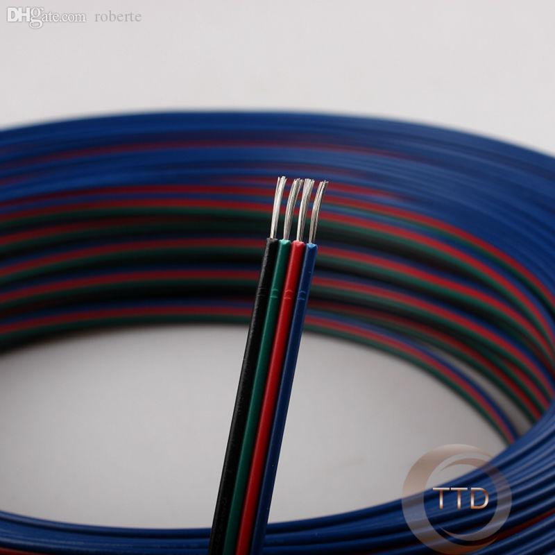 2018 Wholesale 10m 20awg, 4 Pin Rgb Cable, Pvc Insulated Wire ...