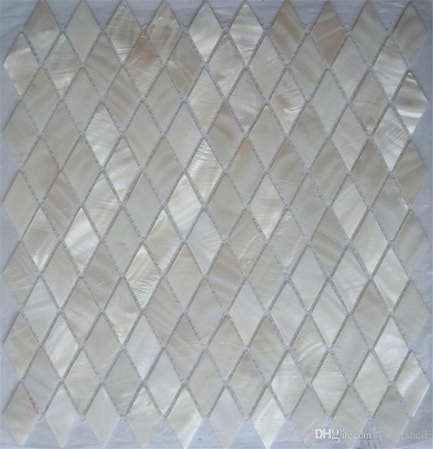 100% пресноводные оболочки перламутровая мозаика плитка для интерьера украшения дома настенная плитка ванная комната и кухня чистый белый ромб шаблон