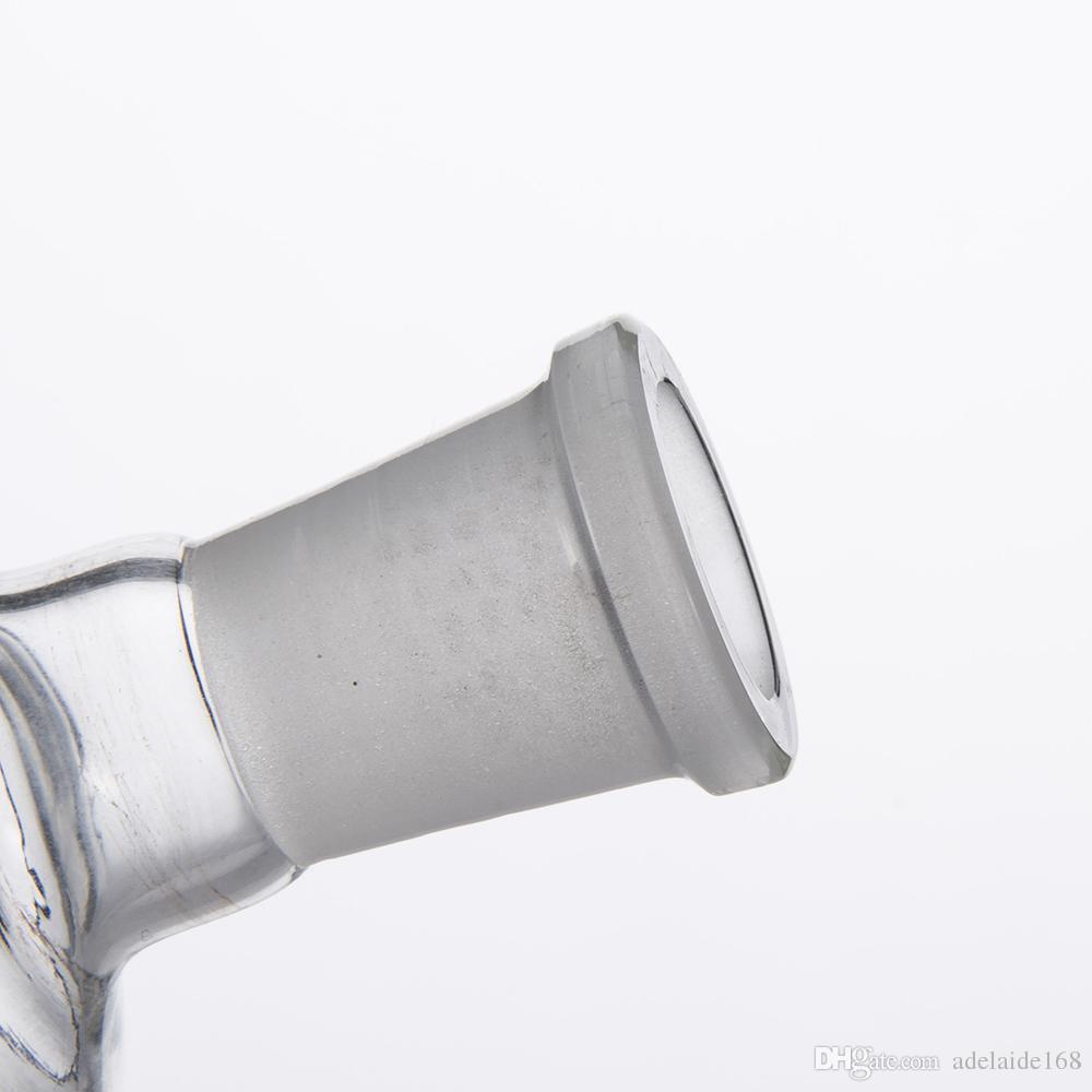 그릇 어댑터 돔에 대 한 유리 어댑터 스탠드 물 파이프 봉 어댑터 14mm 18mm 남성 여성 서리가 내린 조인트 Dropdow Dab Rig 377