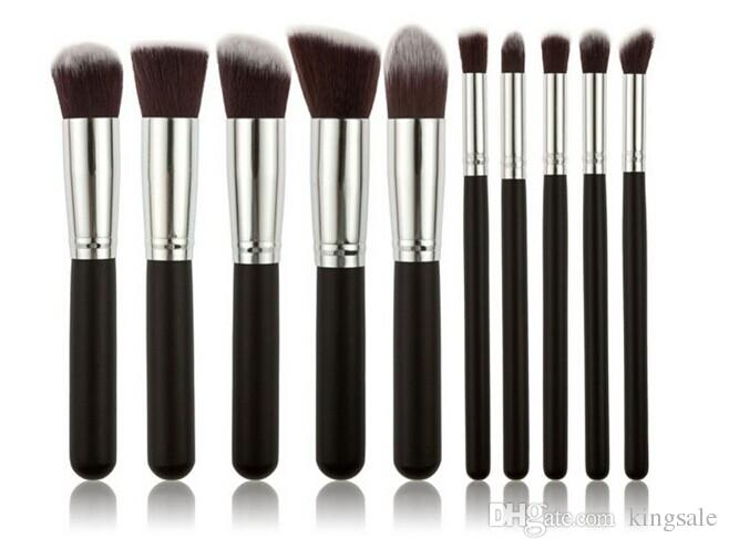 Kabuki Makeup Brushes Professional Cosmetic Brush Kit Nylon Hair Wood Handle top quality DHL free best christmas gift
