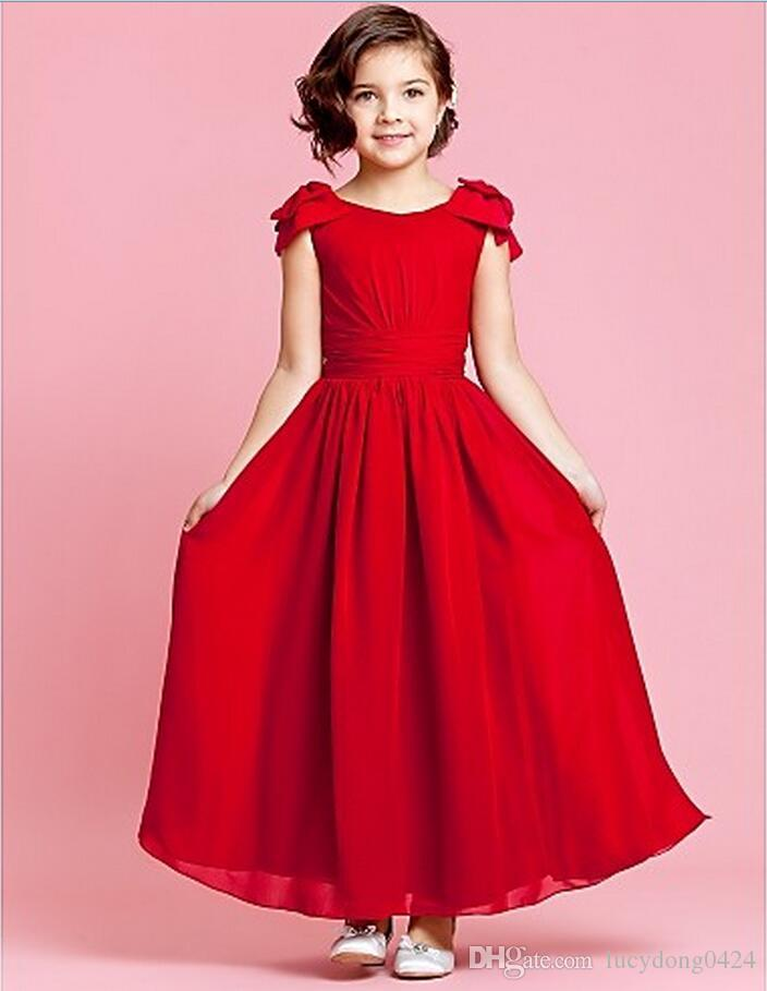 Hot Pink Junior Bridesmaid Dresses