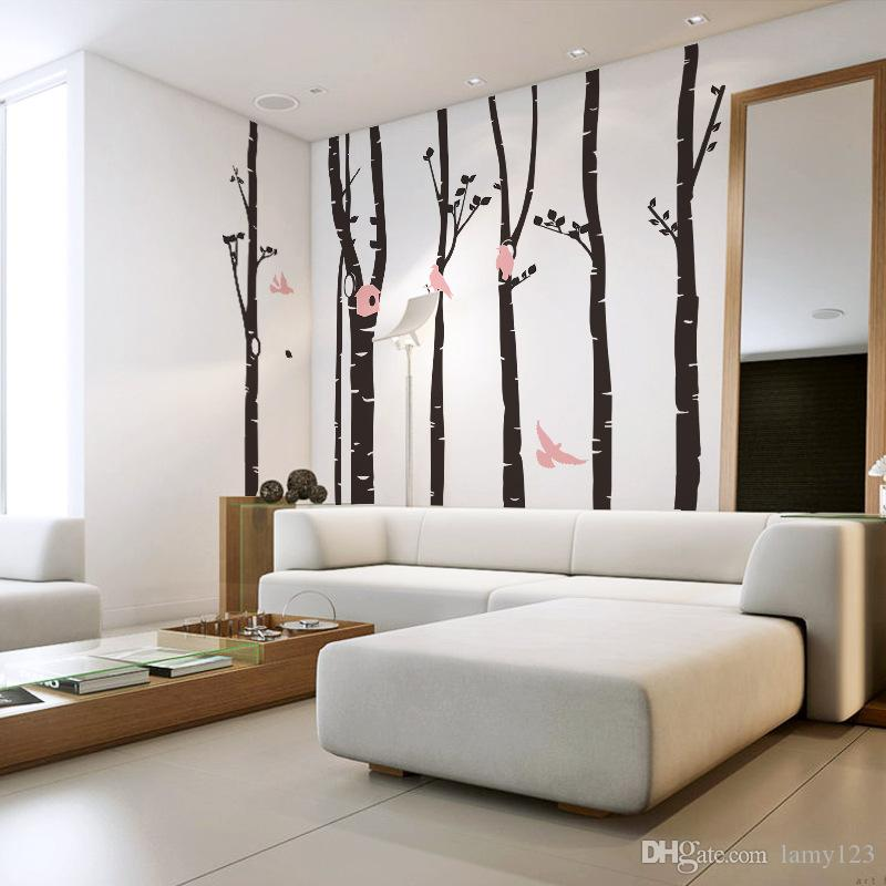 Wholesale Extra large tree wall stickers home decor , large tree and birds vinyl wall decal stickers for home for baby nursery decor