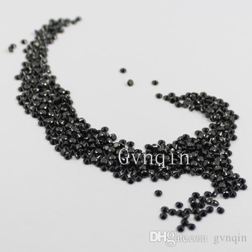 / ücretsiz gönderim 3A 1mm-3.25mm kübik zirkon siyah yuvarlak gevşek mücevher taşları