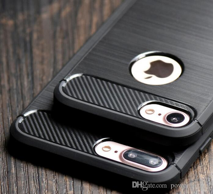 Carbon Fiber Iphone Case >> Carbon Fiber Brushed Soft Tpu Armor Case For Iphone X Xs Xr Max 8 7 6 6s Plus Galaxy S9 S8 Plus Note 9 8 S7 Edge Cover
