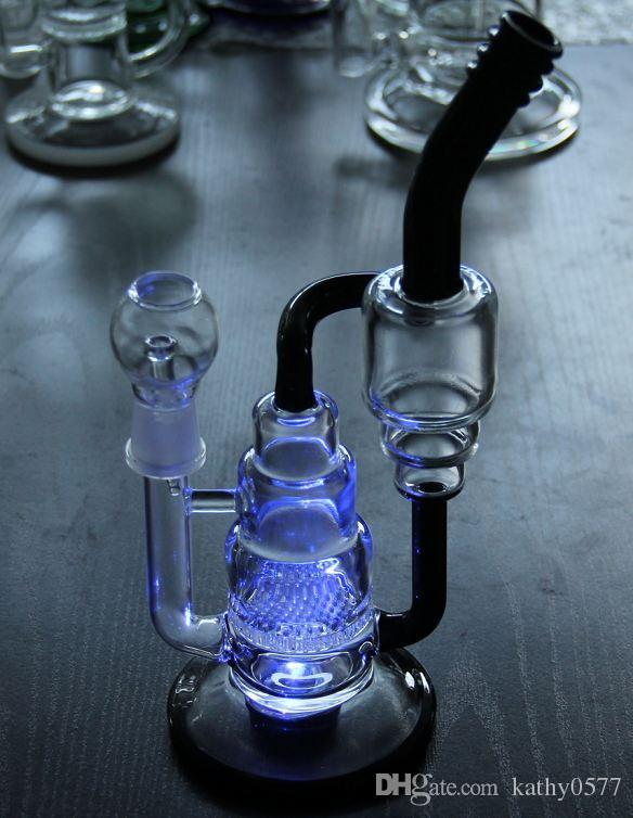 Bong! BONG! LED ışık cam bonglar cam suyu bonglar perkolatörlerde ile 11