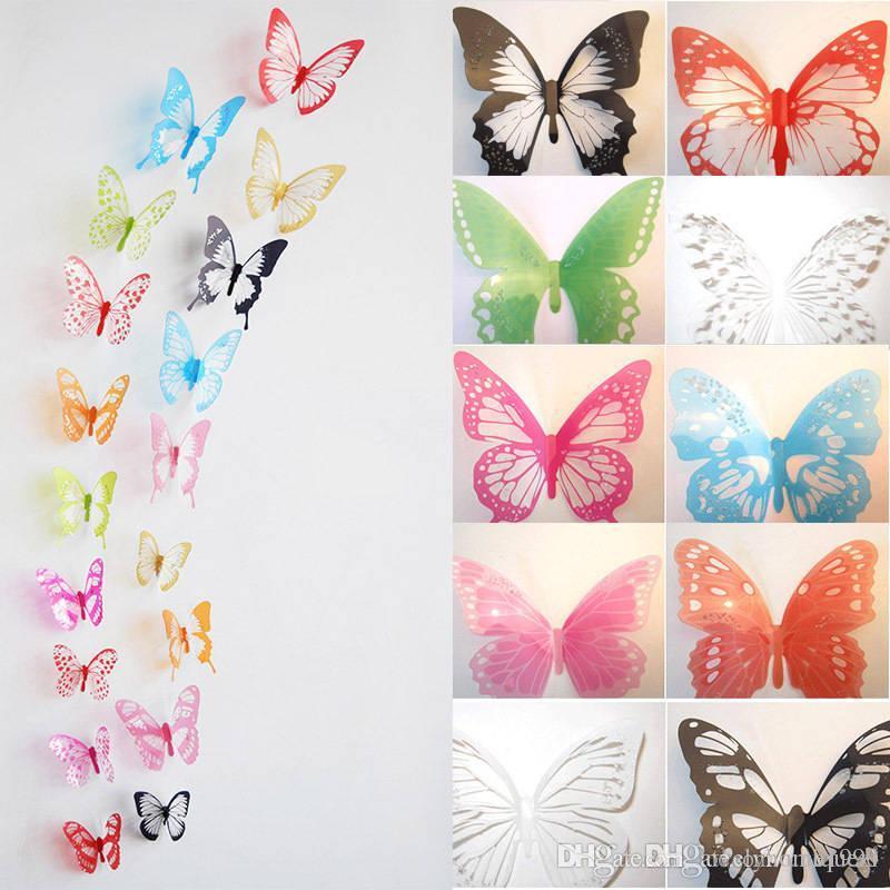 3d Butterfly Sticker Design Decal Wall Stickers Home Decor Tile Sticker  Tile Sticker Covers From Uniquezi, $8.48| Dhgate.Com Part 49