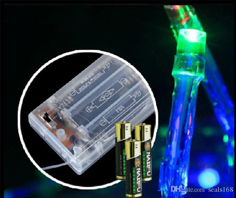 4.8m 20 LED Solar Christmas Lights Waterproof Water Drop Solar Fairy String Lights For Outdoor Lawn Garden Battery Charge HH7-05